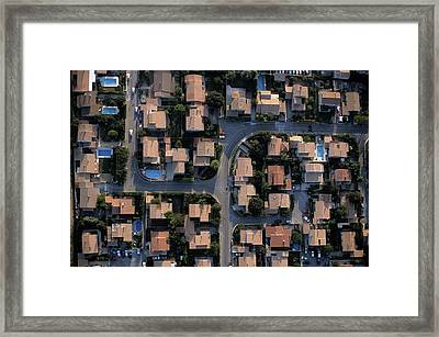 New Housing Development In Provence Framed Print