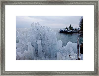 New Ice On Lake Superior Framed Print