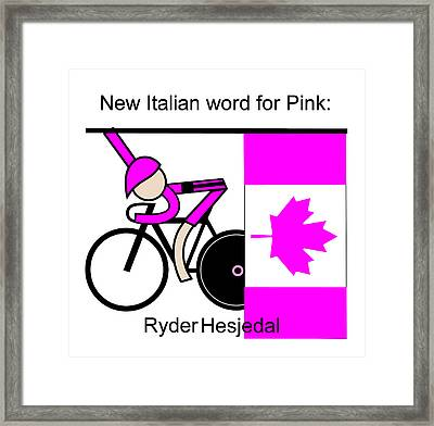 New Italian Word For Pink Framed Print by Asbjorn Lonvig