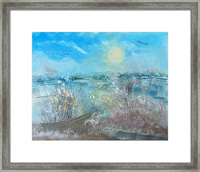 Boat In The Bay Framed Print