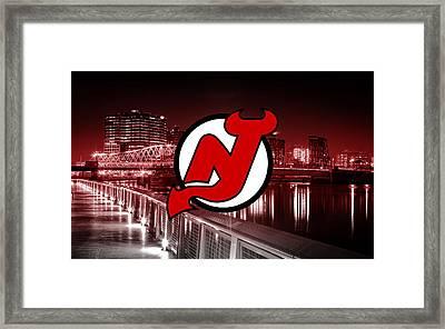 New Jersey Devils Artwork  Framed Print