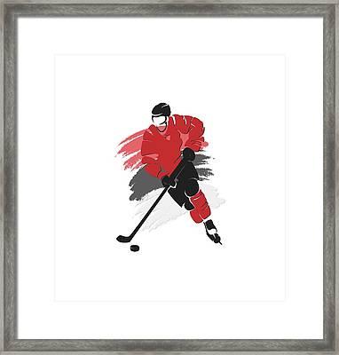 New Jersey Devils Player Shirt Framed Print