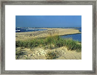 New Jersey Inlet  Framed Print by Sally Weigand