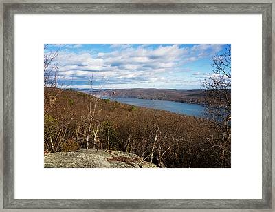 New Jersey Mountaintop View Framed Print by Joan Carroll