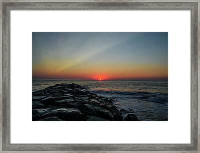New Jersey Shore - Townsends Inlet Framed Print by Bill Cannon