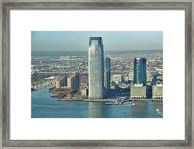 New Jersey Skyline Framed Print