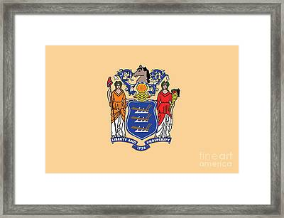 New Jersey State Flag Framed Print