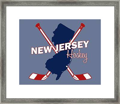 New Jersey State Hockey Framed Print by Summer Myers