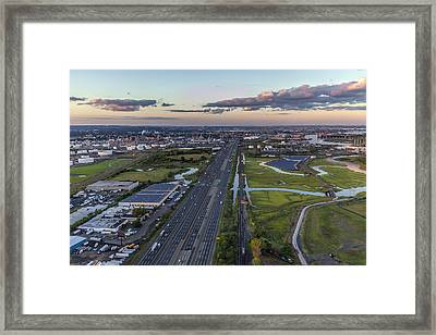 New Jersey Turnpike Aerial View Framed Print