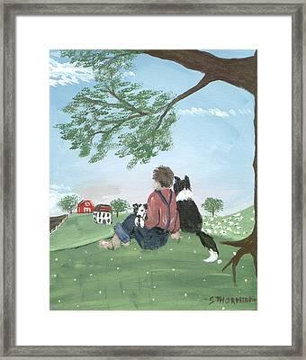 New Kid In Town Framed Print by Sue Ann Thornton