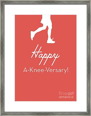 New Knee Card- Art By Linda Woods Framed Print by Linda Woods