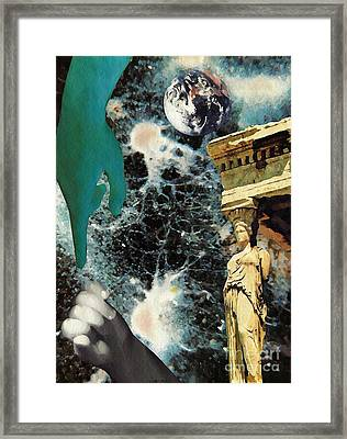 New Life In Ancient Time-space Framed Print by Sarah Loft