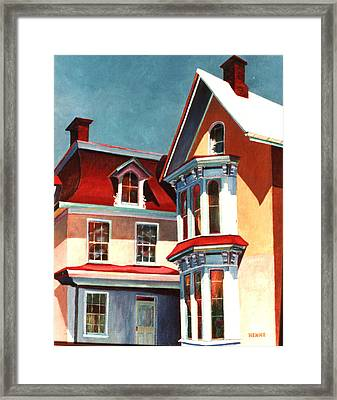 New Light On The Past Framed Print by Robert Henne