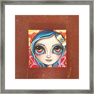 New Little Fairy! Not Sure What To Name Framed Print by Jaz Higgins