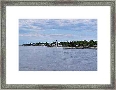 New London Harbor Lighthouse Framed Print