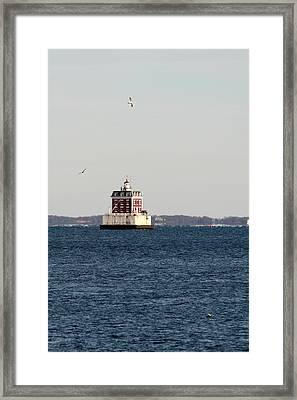 New London Lighthouse Framed Print by Gerald Mitchell