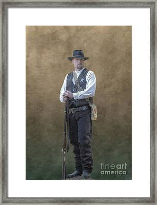 New Marshal In Town  Framed Print by Randy Steele