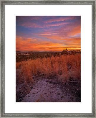 New Mexican Sunset Framed Print by Elena E Giorgi