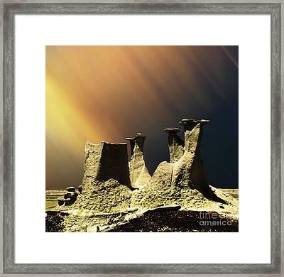 Ah-shi-sle-pah Rock Formation New Mexico  Framed Print
