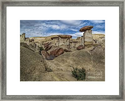 New Mexico Badlands Formations Framed Print