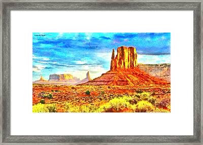 New Mexico Beautiful Desert - Da Framed Print