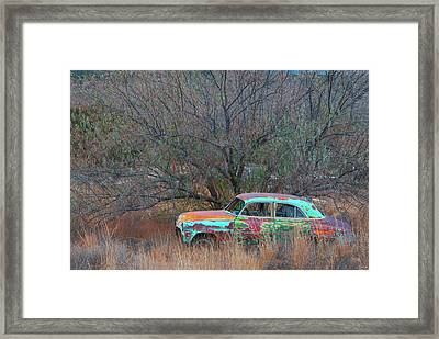 Framed Print featuring the photograph New Mexico Blue by Carolyn Dalessandro