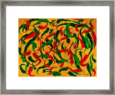 New Mexico Chili Art Framed Print