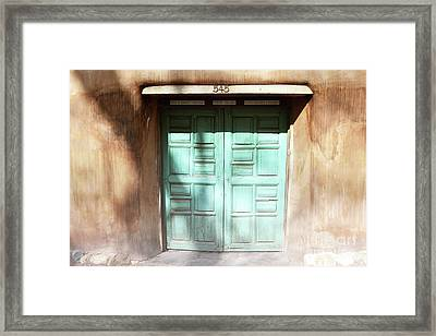 Framed Print featuring the photograph New Mexico Dreamy Rustic Door by Andrea Hazel Ihlefeld