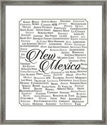 New Mexico Framed Print by Finlay McNevin
