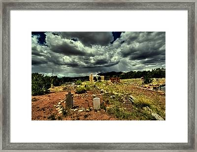 New Mexico Graveyard Framed Print