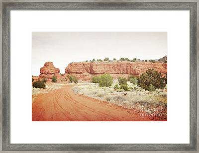 New Mexico Jemez Mountain Red Rock Countryside Framed Print by Andrea Hazel Ihlefeld