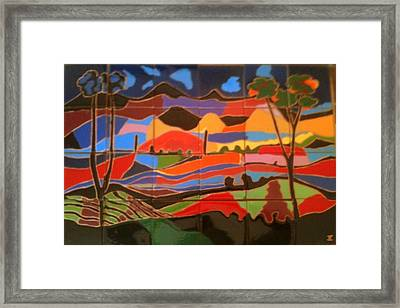 New Mexico Landscape Framed Print by Yana Yatsyk
