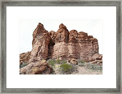 Framed Print featuring the photograph New Mexico Mountain Canyon by Andrea Hazel Ihlefeld
