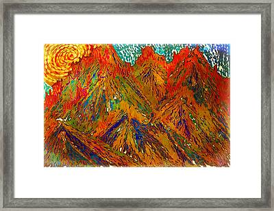 New Mexico Mountain Landscape Framed Print