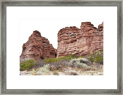 Framed Print featuring the photograph New Mexico Red Rock Mountain Canyon by Andrea Hazel Ihlefeld
