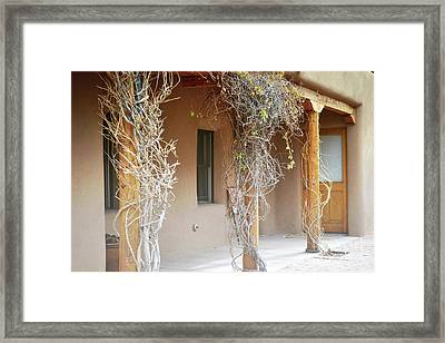 Framed Print featuring the photograph New Mexico Rustic Country Porch by Andrea Hazel Ihlefeld