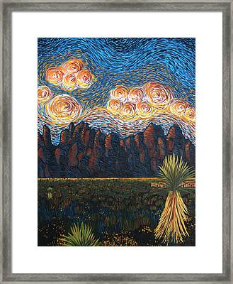 New Mexico Sunset Framed Print