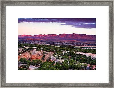 New Mexico Sunset Framed Print by Matt Suess