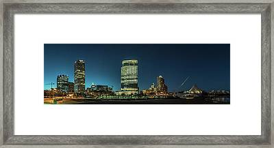 Framed Print featuring the photograph New Milwaukee Skyline by Randy Scherkenbach