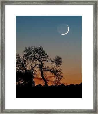 New Moon At Beaver Creek, Arizona, I Framed Print by Dave Wilson