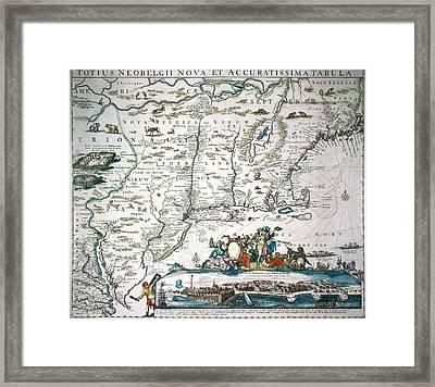 New Netherland Map Framed Print by Granger