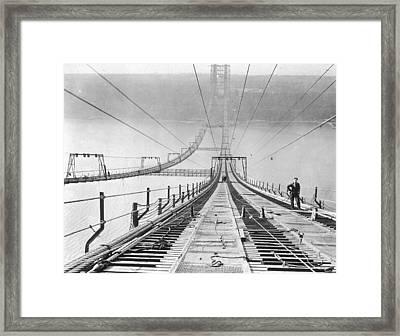 New New York Bridge Framed Print by Archive Photos