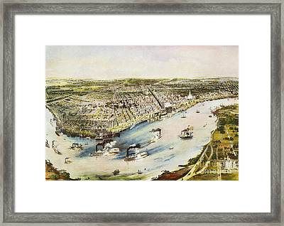 New Orleans, 1851 Framed Print by Granger