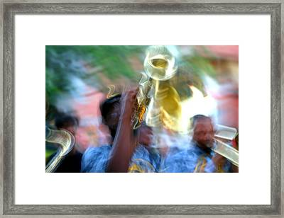 New Orleans Abstract Street Jazz Performance Framed Print