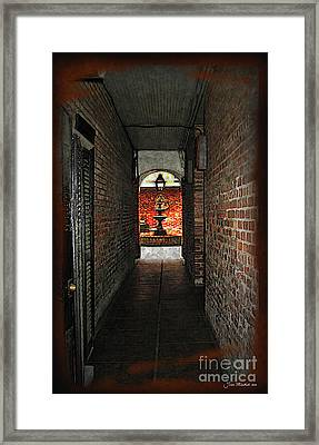 New Orleans Alley Framed Print by Joan  Minchak