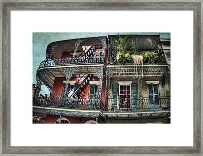 New Orleans Balconies No. 4 Framed Print by Tammy Wetzel
