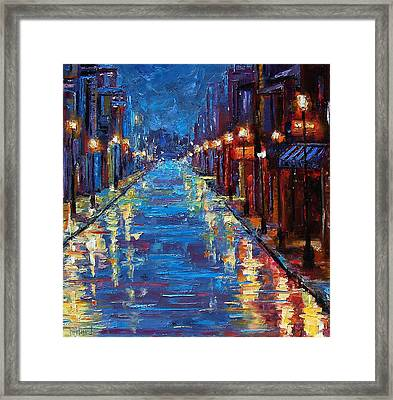 New Orleans Bourbon Street Framed Print by Debra Hurd