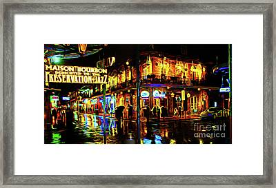 New Orleans Bourbon Street Framed Print by Jerome Stumphauzer
