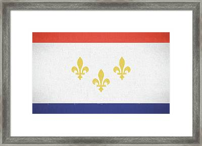 Framed Print featuring the digital art New Orleans City Flag by JC Findley