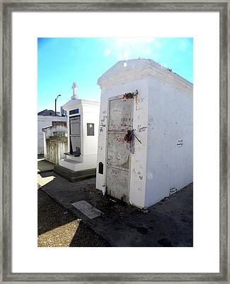 New Orleans Crypt 13 Framed Print by Patricia Bigelow